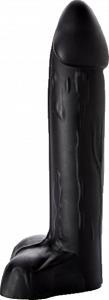 Hoss - Large black silicone dildo with prominent coronal ridge